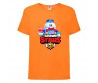 Футболка детская Brawl Stars Lou (Бравл Старс Лу) оранжевая 104 см