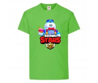 Футболка детская Brawl Stars Lou (Бравл Старс Лу) светлозеленая 104 см