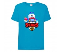 Футболка детская Brawl Stars Lou (Бравл Старс Лу) синяя 104 см