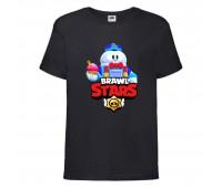 Футболка детская Brawl Stars Lou (Бравл Старс Лу) черная 104 см