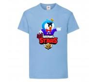 Футболка детская Brawl Stars Mr. P (Бравл Старс Мистер П) голубая 104 см