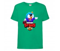 Футболка детская Brawl Stars Mr. P (Бравл Старс Мистер П) зеленая 104 см