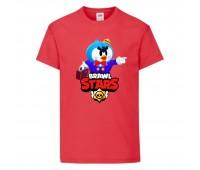 Футболка детская Brawl Stars Mr. P (Бравл Старс Мистер П) красная 104 см