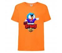 Футболка детская Brawl Stars Mr. P (Бравл Старс Мистер П) оранжевая 104 см