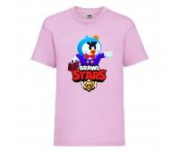 Футболка детская Brawl Stars Mr. P (Бравл Старс Мистер П) розовая 104 см