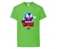 Футболка детская Brawl Stars Mr. P (Бравл Старс Мистер П) светлозеленая 104 см