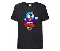 Футболка детская Brawl Stars Mr. P (Бравл Старс Мистер П) черная 104 см