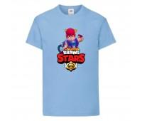 Футболка детская Brawl Stars Pam (Бравл Старс Пэм) голубая 104 см