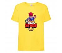 Футболка детская Brawl Stars Pam (Бравл Старс Пэм) желтая 104 см