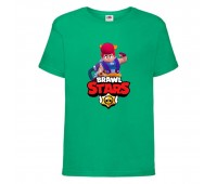 Футболка детская Brawl Stars Pam (Бравл Старс Пэм) зеленая 104 см