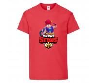 Футболка детская Brawl Stars Pam (Бравл Старс Пэм) красная 104 см
