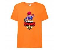 Футболка детская Brawl Stars Pam (Бравл Старс Пэм) оранжевая 104 см