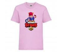 Футболка детская Brawl Stars Pam (Бравл Старс Пэм) розовая 104 см
