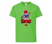 Футболка детская Brawl Stars Pam (Бравл Старс Пэм) светлозеленая 104 см