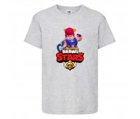 Футболка детская Brawl Stars Pam (Бравл Старс Пэм) серая 104 см