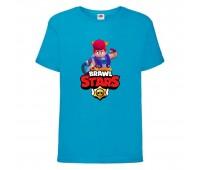 Футболка детская Brawl Stars Pam (Бравл Старс Пэм) синяя 104 см