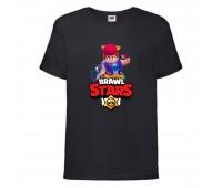Футболка детская Brawl Stars Pam (Бравл Старс Пэм) черная 104 см