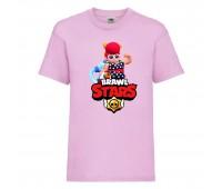 Футболка детская Brawl Stars Pam Beach (Бравл Старс Пэм Пляжная) розовая 104 см
