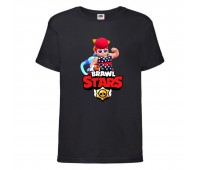 Футболка детская Brawl Stars Pam Beach (Бравл Старс Пэм Пляжная) черная 104 см