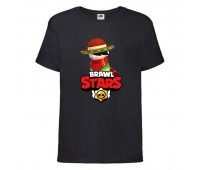 Футболка детская Brawl Stars Quickdraw Edgar (Бравл Старс Эдгар Молниеносный) черная 104 см