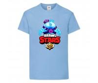 Футболка детская Brawl Stars Squeak (Бравл Старс Скуик) голубая 104 см