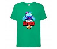 Футболка детская Brawl Stars Squeak (Бравл Старс Скуик) зеленая 104 см