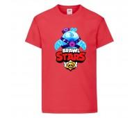 Футболка детская Brawl Stars Squeak (Бравл Старс Скуик) красная 104 см