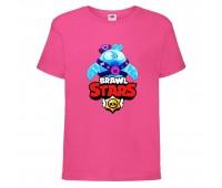 Футболка детская Brawl Stars Squeak (Бравл Старс Скуик) малиновая 104 см
