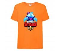 Футболка детская Brawl Stars Squeak (Бравл Старс Скуик) оранжевая 104 см