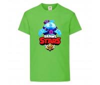 Футболка детская Brawl Stars Squeak (Бравл Старс Скуик) светлозеленая 104 см