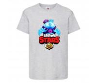 Футболка детская Brawl Stars Squeak (Бравл Старс Скуик) серая 104 см
