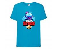 Футболка детская Brawl Stars Squeak (Бравл Старс Скуик) синяя 104 см