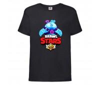 Футболка детская Brawl Stars Squeak (Бравл Старс Скуик) черная 104 см