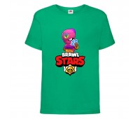 Футболка детская Brawl Stars Tara (Бравл Старс Тара) зеленая 104 см