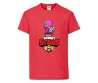 Футболка детская Brawl Stars Tara (Бравл Старс Тара) красная 104 см