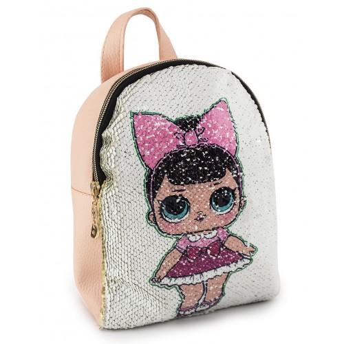 Рюкзак Cappuccino Toys LP-pud1 LOL для девочек пудровый