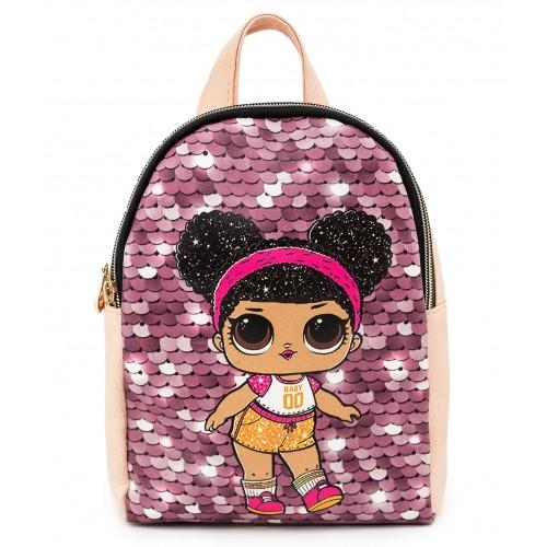 Рюкзак Cappuccino Toys L-pud-PP7 LOL для девочек пудровый