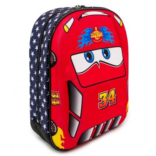 Детский рюкзак Cappuccino Toys Тачки Молния Маквин 3D дошкольный (3D-Cars1) красный
