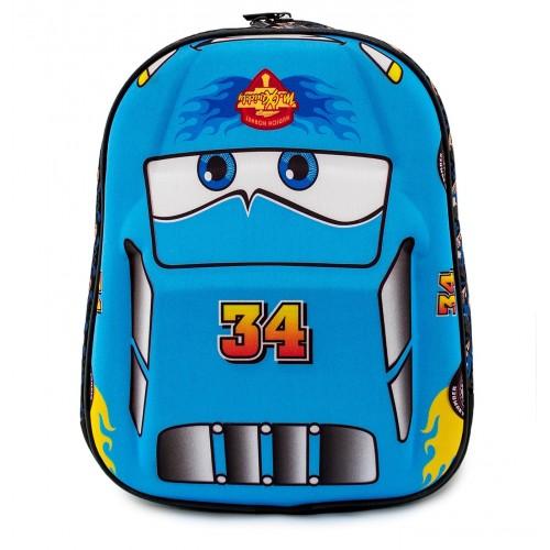 Детский рюкзак Cappuccino Toys Тачки Молния Маквин 3D дошкольный (3D-Cars2) голубой