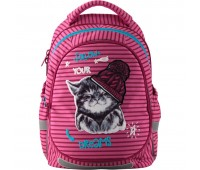 Рюкзак Kite Education FLUFFY ANIMALS K19-723M-1 школьный розовый