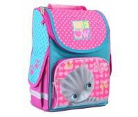 Рюкзак каркасный Smart Cat H-11  школьный розовый