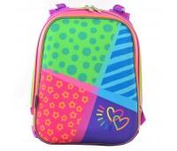 Рюкзак каркасный YES Bright colors H-12  школьный розовый