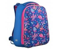 Рюкзак каркасный YES Butterfly H-12 школьный синий