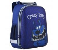 Рюкзак каркасный YES Crazy dog  H-12 школьный синий