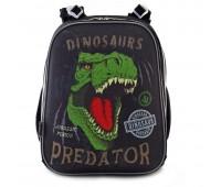Рюкзак каркасный YES Dinosaurs  H-12-2 школьный черный