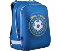 Рюкзак каркасный YES Football H-12 школьный синий