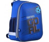 Рюкзак каркасный YES H-12 Football школьный для мальчика синий