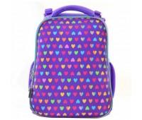 Рюкзак 1 Вересня Hearts H-12 школьный фиолетовый