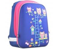 Рюкзак каркасный YES Owl blue H-12 школьный синий
