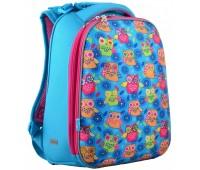 Рюкзак каркасный YES Owl H-12 школьный голубой